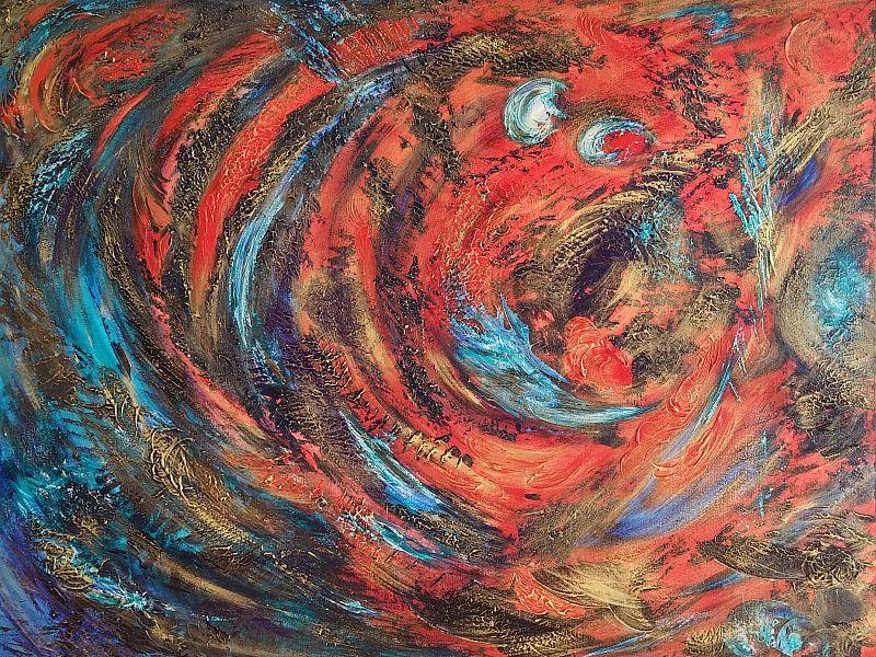 Carmine - Furrah Syed - Abstract Art